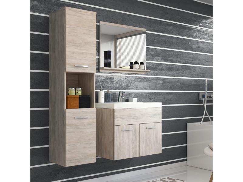 Ensemble salle de bain - chelsea - chêne sonoma - 4 éléments ...