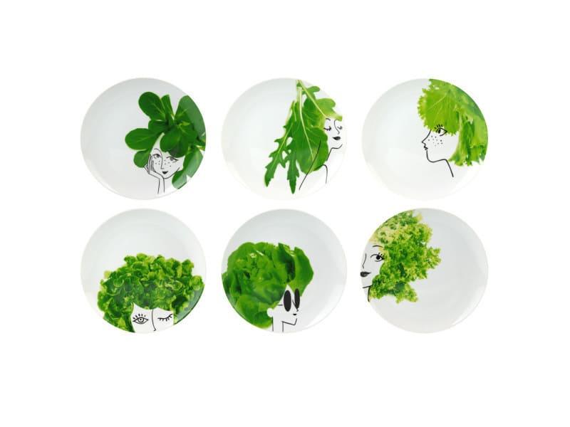 Coffret de 6 assiettes les petites salades