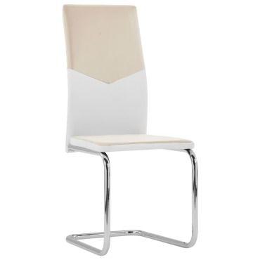Vidaxl chaises de salle à manger cantilever 2pcs cappuccino
