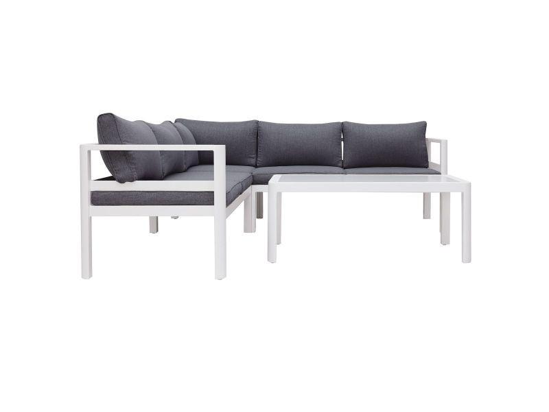 Salon de jardin design gris foncé avec table basse tonight - Vente ...