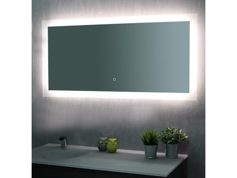 Miroir De Salle De Bains Avec Eclairage Led Modele Touch 120