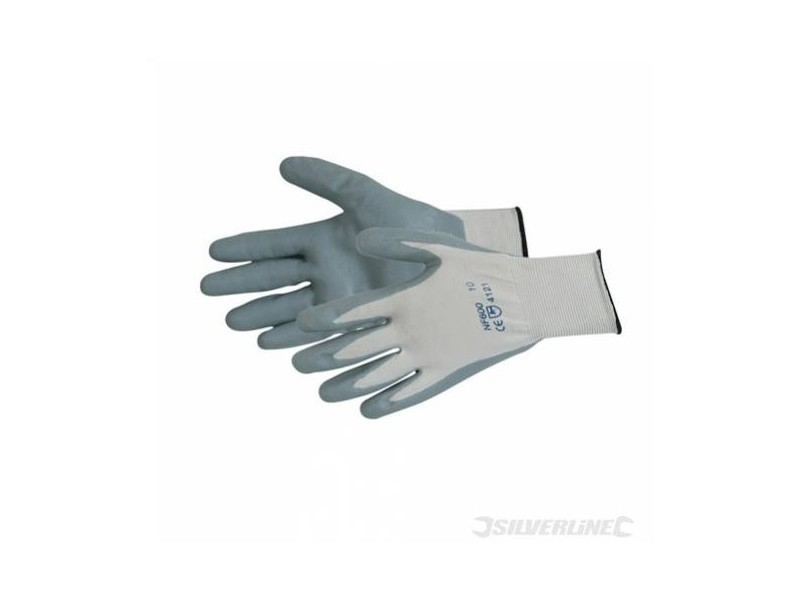 Silverline - gants nylon enduction nitrile expansé
