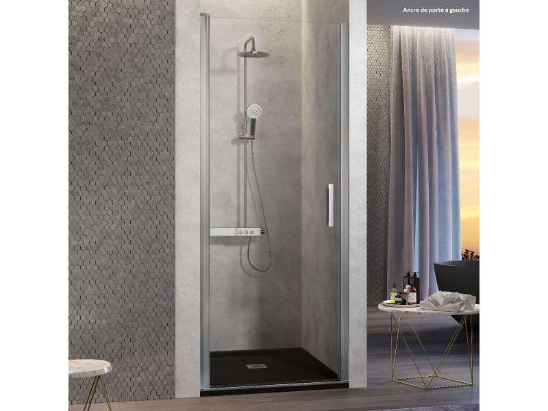 Porte de douche pivotante nardi 60-64 cm ancre de porte à gauche