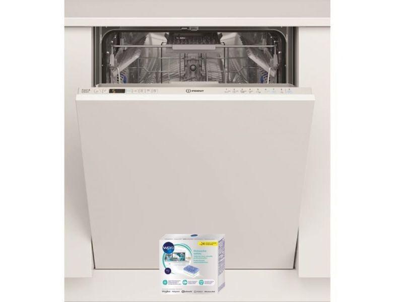 Indesit lave-vaisselle tout intégrable encastrable 44db a++ 14 couverts 60cm aquastop
