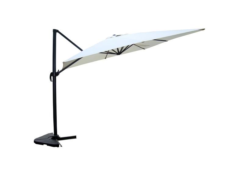Laredo écru: parasol déporté, carré de 3x3m , rotatif à 360° 1306
