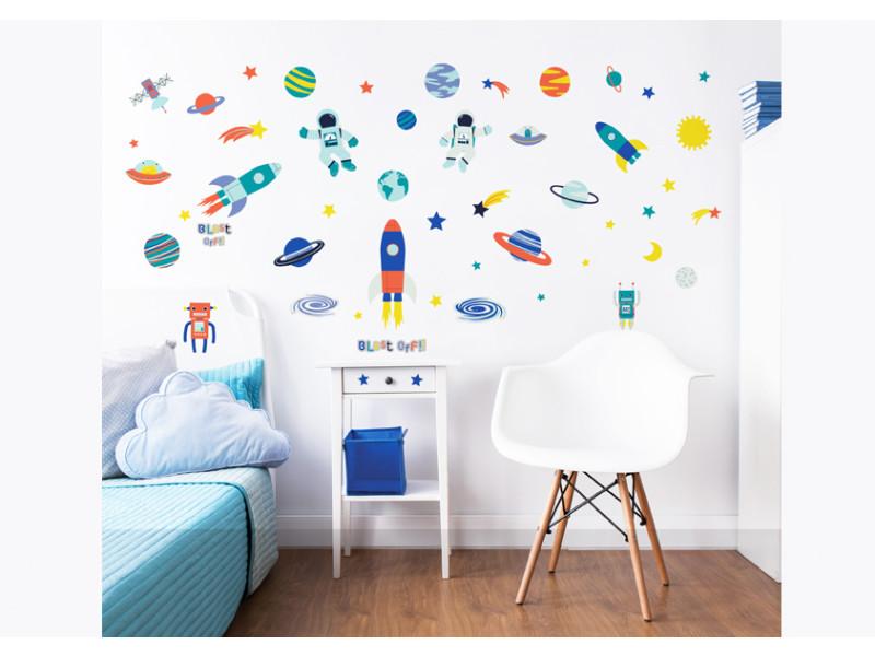 55 stickers enfants espace   Vente de Stickers et papier peint