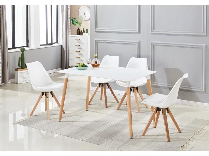 Ensemble Table Et 4 Chaises De Salle A Manger Scandinave Coloris