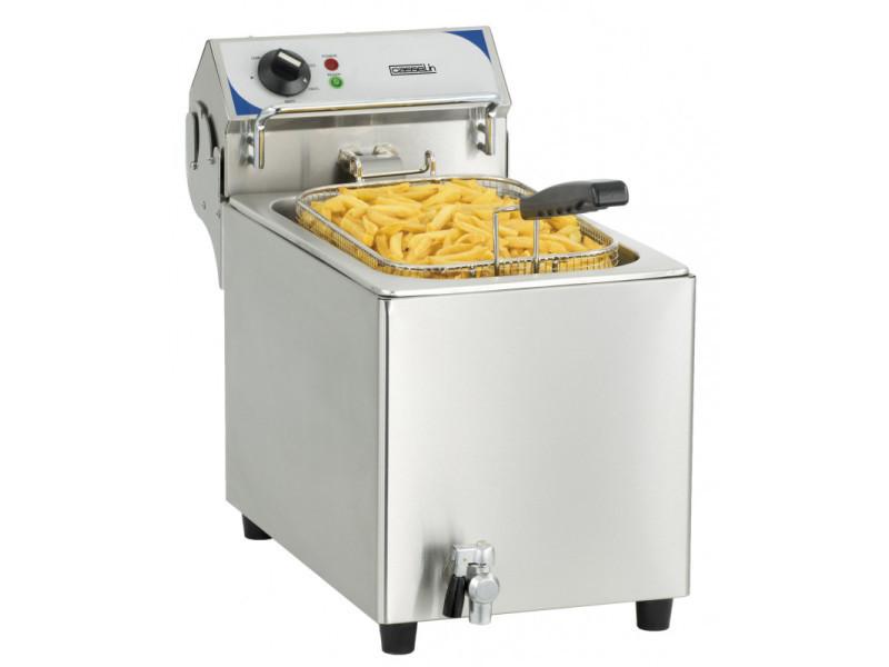 Friteuse professionnelle électrique avec robinet de vidange - 10 litres - 2,8 kw - casselin - 10