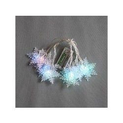 Guirlande lumineuse cristaux de neige 10 leds