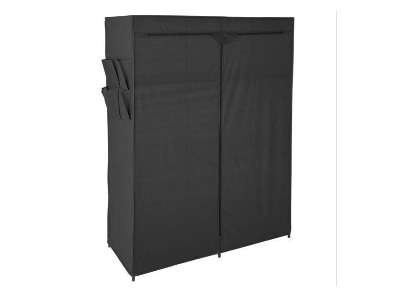 Armoire de rangement 2 étagères et 2 penderies + poches noire