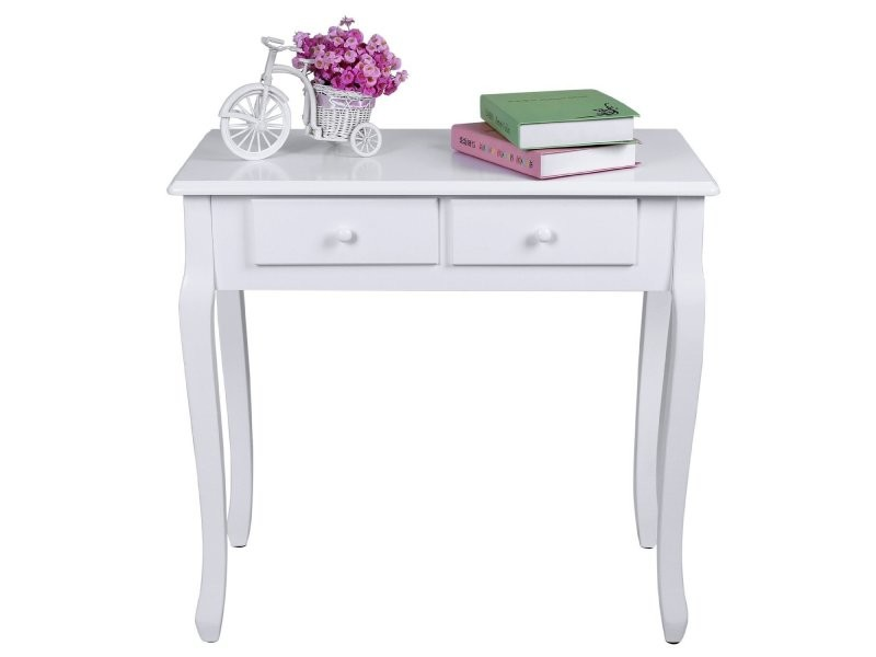Coiffeuse bois table maquillage blanc helloshop26 1412019 - Table de maquillage conforama ...