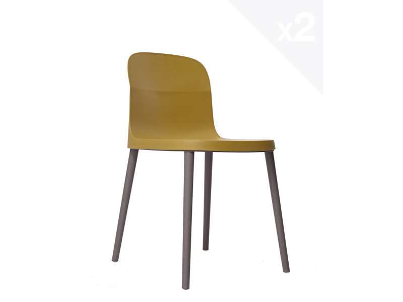 Lot de 2 chaises design intérieur / extérieur SANTI (ginger) 279