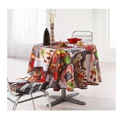 Nappe polyester tapas rouge 180 cm