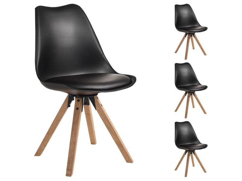 Lot De 4 Chaises De Salle A Manger Tyson Style Scandinave Design