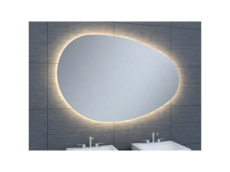 Miroir De Salle De Bains Avec Eclairage Led Modele Ovo 120 80