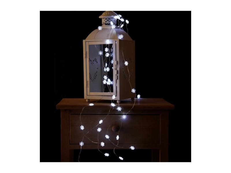Feeric christmas - guirlande lumineuse intérieur 60 led blanc lumière fixe sur 1.20 m