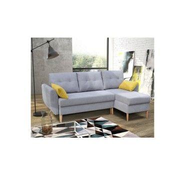 Canapé D'Angle Convertible Style Scandinave - Piero - Vente De