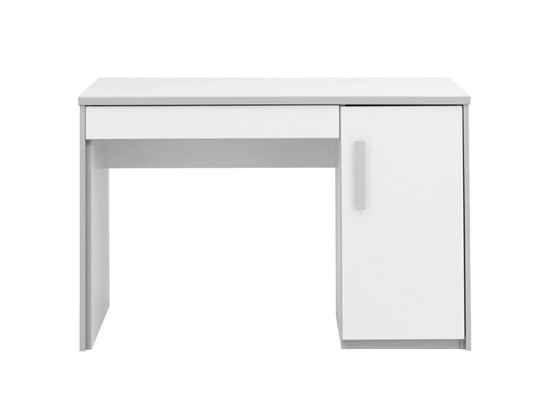 Bureau tiroir porte blanc gris jewel l l h