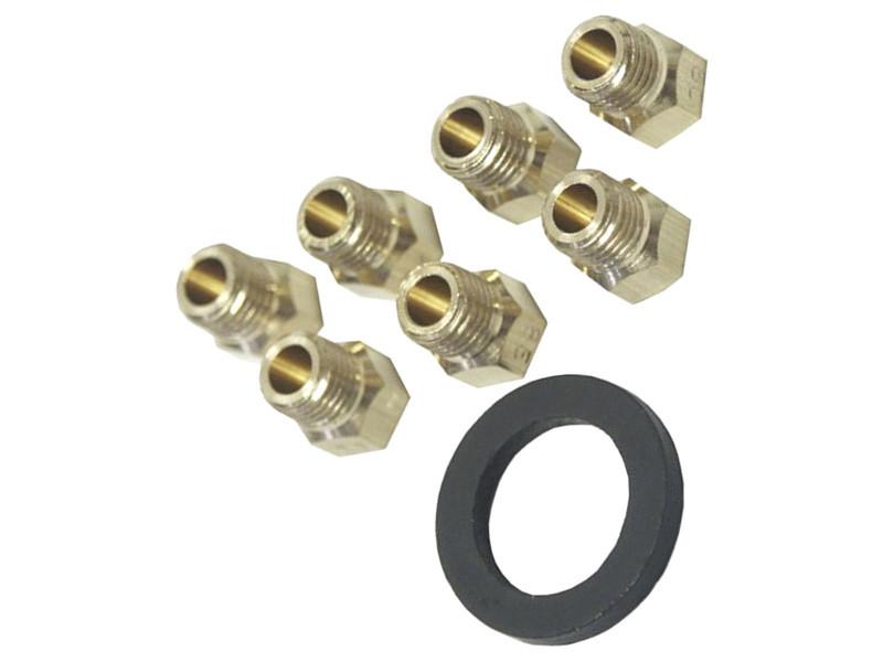 Jeu d'injecteurs gaz butane/propane four, cuisinière whirlpool 481231038554, c00327414