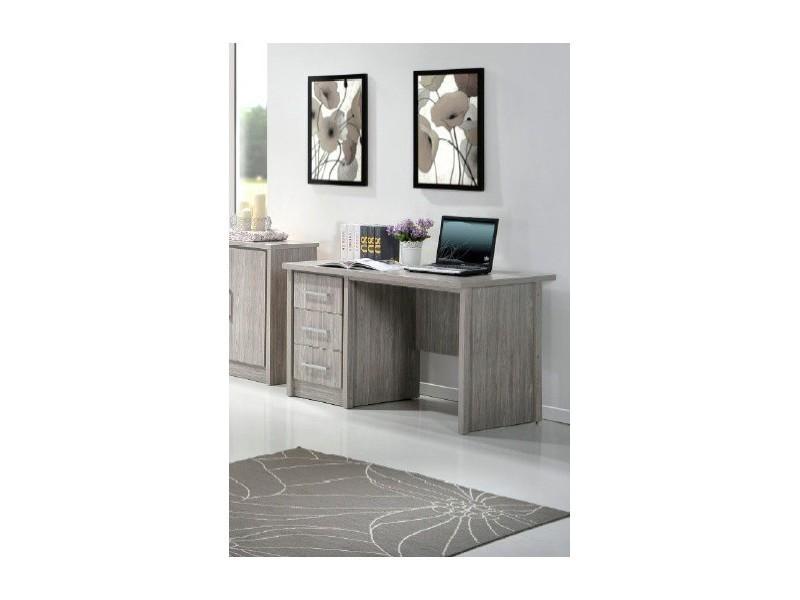 bureau enfant 120 cm aude l 120 x h 75 x p 75 cm ch ne gris conforama. Black Bedroom Furniture Sets. Home Design Ideas