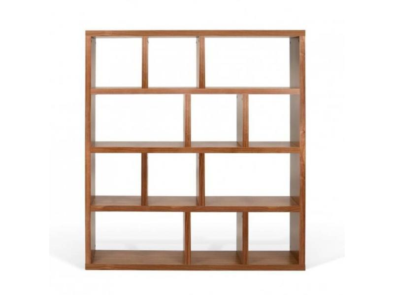 temahome berlin biblioth que tag re noyer 20100840418 vente de etag re conforama. Black Bedroom Furniture Sets. Home Design Ideas