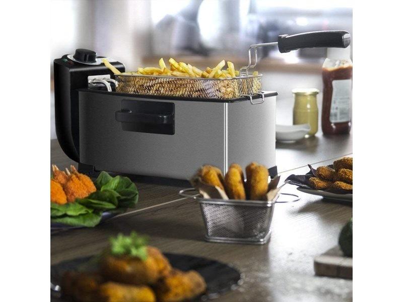 Friteuse électrique de 3l 2000w noir gris