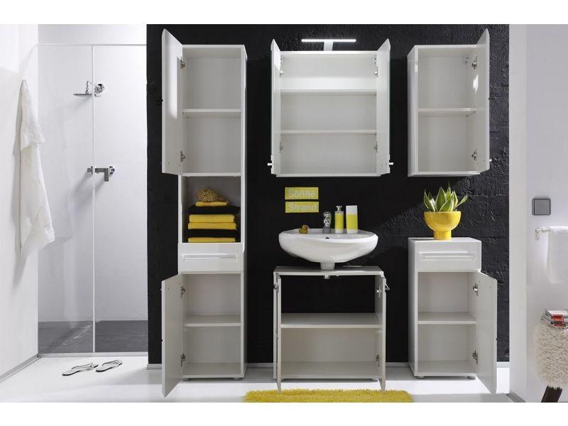 colonne de rangement pour salle de bain design 182 cm. Black Bedroom Furniture Sets. Home Design Ideas