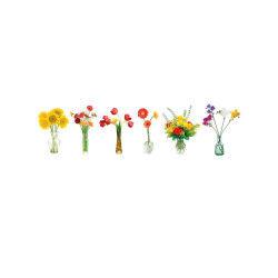 6 sticker pour vitre plante - florilège