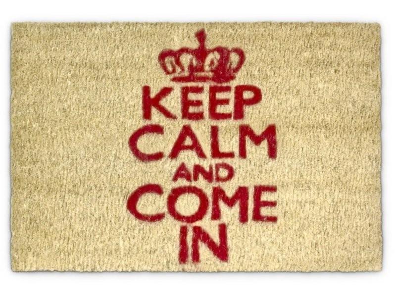 Paillasson tapis porte d'entrée essuie-pieds fibre de coco nature 60 x 40 cm helloshop26 2013024