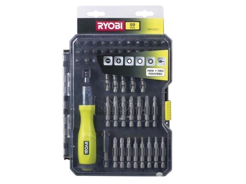 Ryobi - coffret de 59 accessoires de vissage - rak59sd RYO4892210113399