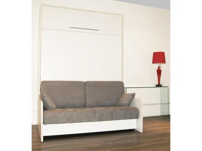 Excellent perfect armoire lit escamotable space sofa canap for Conforama placard chambre