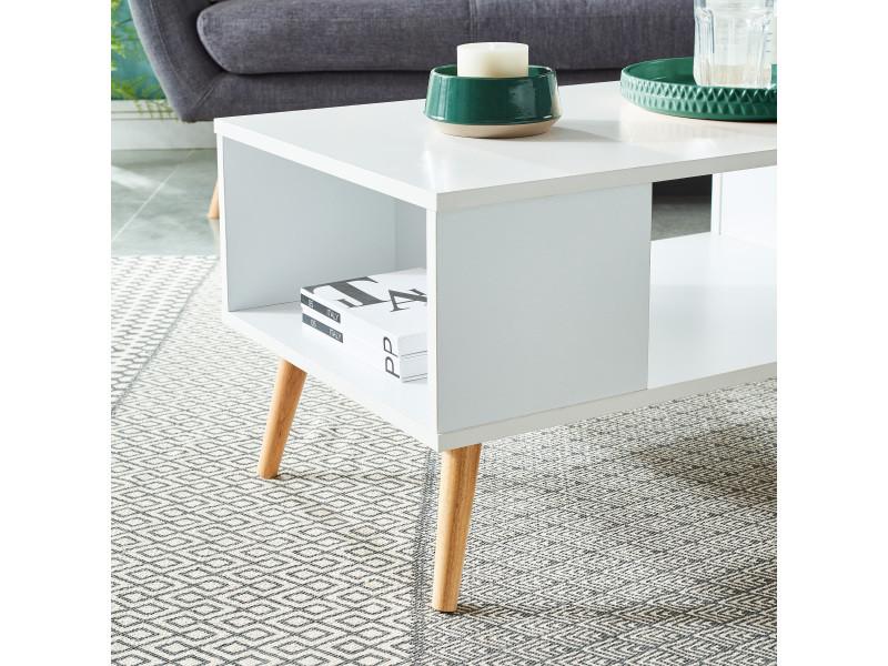 Annette scandinave blancpieds basse bois décor en table Yb7ym6vfgI