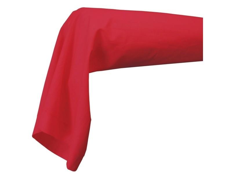 Taie de traversin 85 x 185 cm rouge coquelicot