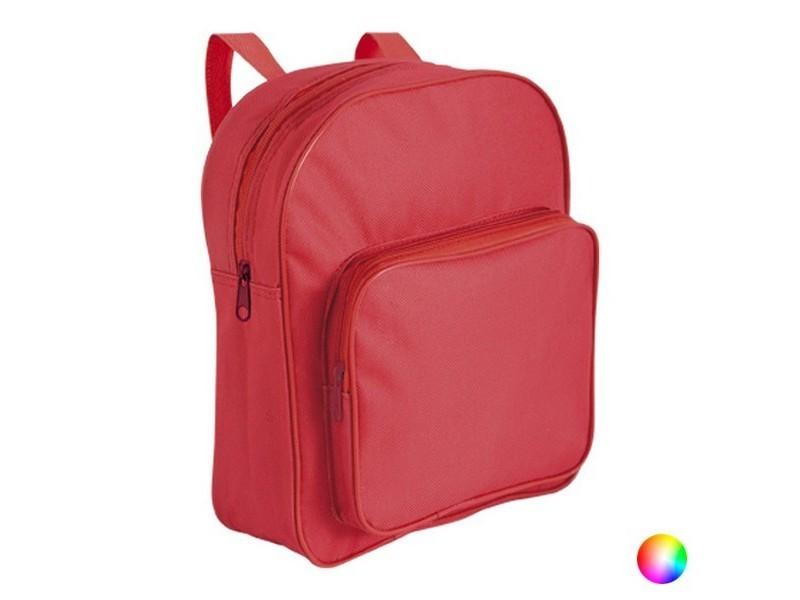 Cartable en polyester avec poche - sac à dos école couleur - rouge