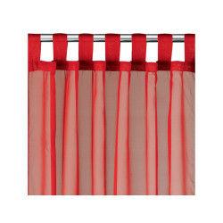 Rideau voile à pattes polyester rouge 140 x 240 les ateliers du linge