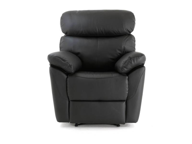 Fauteuil noir relax manuel levi - /noir - /noir FAUT-LEVI1P