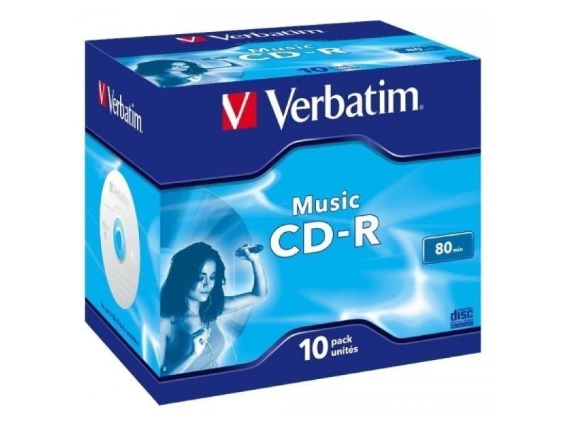 Cd-r 80 verbatim audio 16x 10er jewel case 43365