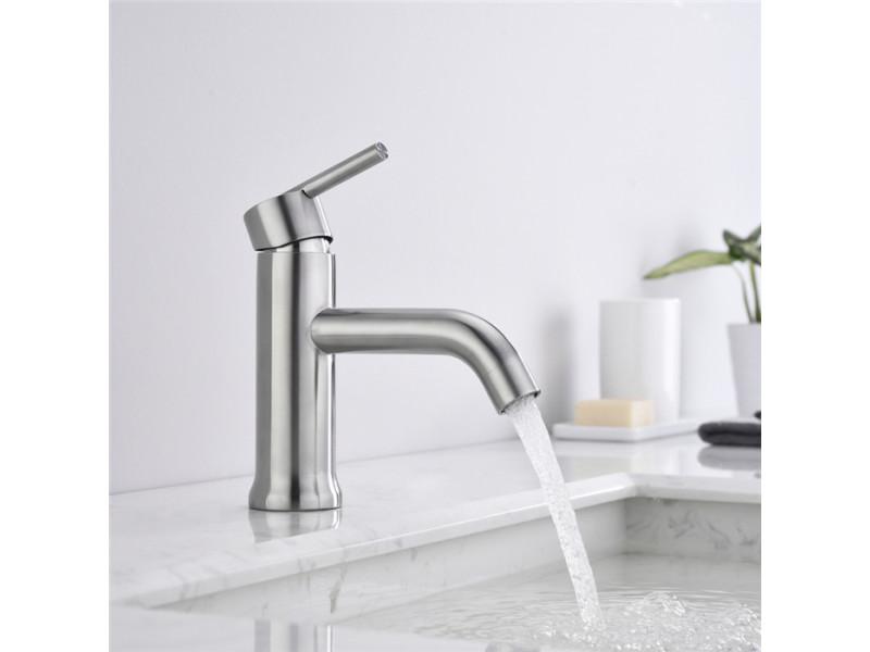 Robinet salle de bain brossé mitigeur lavabo design moderne ...