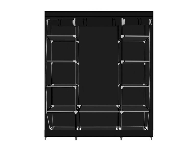 Herzberg hg-8009: armoire de rangement - grande noire