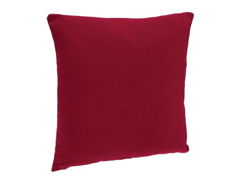 Coussin de couleur unique: Rouge Dimensions: env 40 x 40 cm de Brandsseller 4 points Coussin matelass/é jardin Coussin Cotelages decoratifs Galettes de chaise matelass/ées hyper Moelleuses Coussin int/érieur // ext/érieur