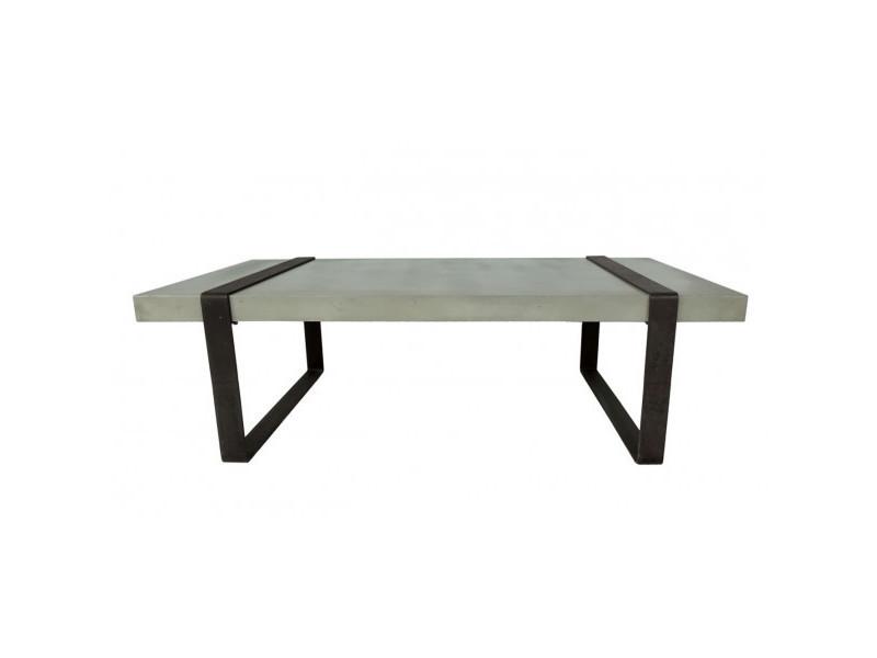 Beton - table basse métal noir
