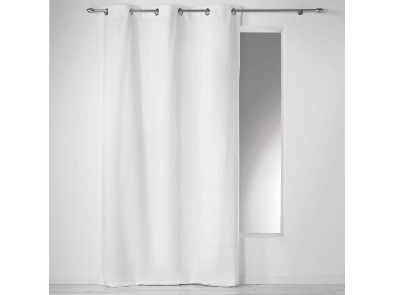 Rideau à œillets 100 % coton panama 140 x 240 cm 1604619-blanc