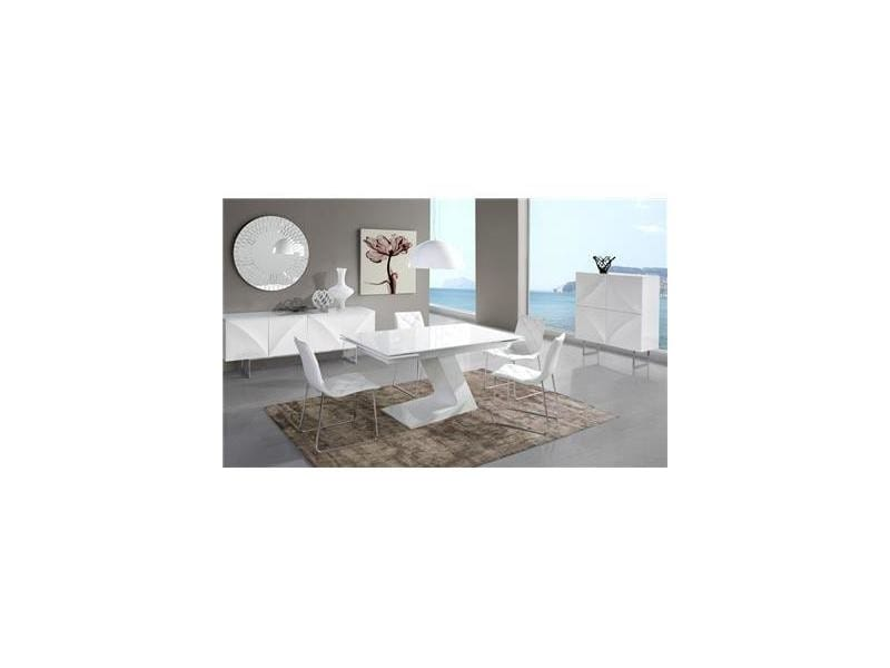 Salle A Manger Complete Blanc Laque Design Helga Vente De