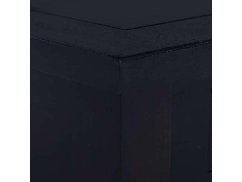 Vidaxl table basse café noir clair 68x68x30 cm bois d'acajou massif 288826