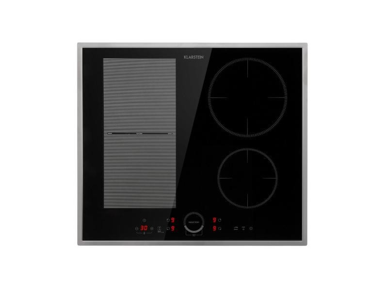 Klarstein delicatessa 60 hybrid prime - table de cuisson á indcution encastrable 4 zones - noir