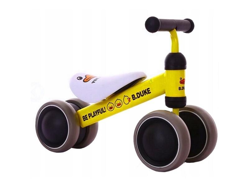 Okie - draisienne bébé enfant à partir 18 mois - ultra lègere 2kg - vélo sans pédales - ergonomique confortable selle/roues mousse - jaune