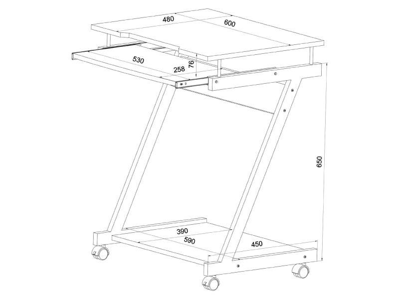 bureau table meuble informatique avec tablette clavier bois fonc helloshop26 0512004 vente de. Black Bedroom Furniture Sets. Home Design Ideas