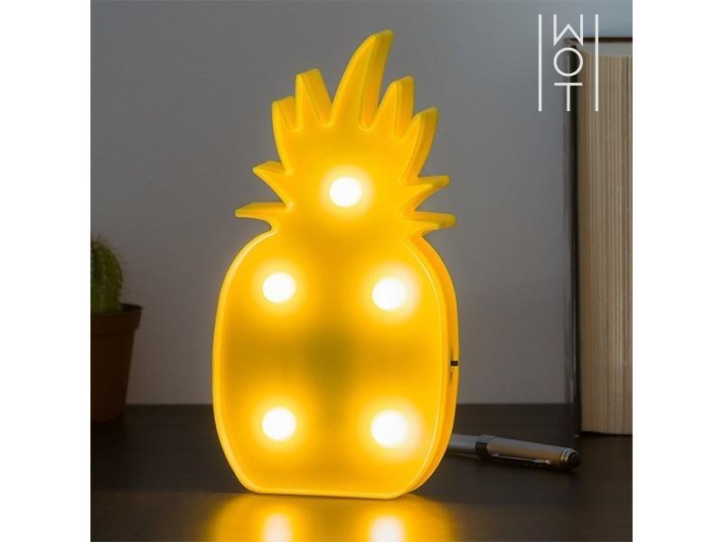 En Lampe Poser D'ananas5 Led LedÀ Murale Forme 35Sc4LRqAj