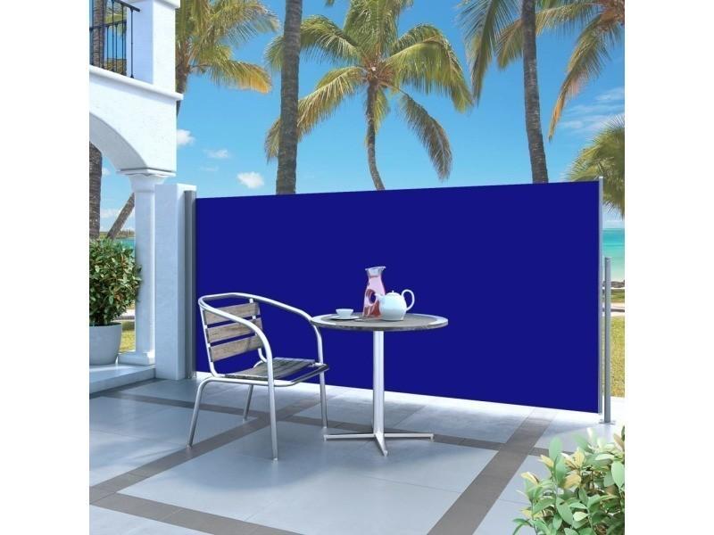Vidaxl auvent latéral rétractable 120 x 300 cm bleu 45361