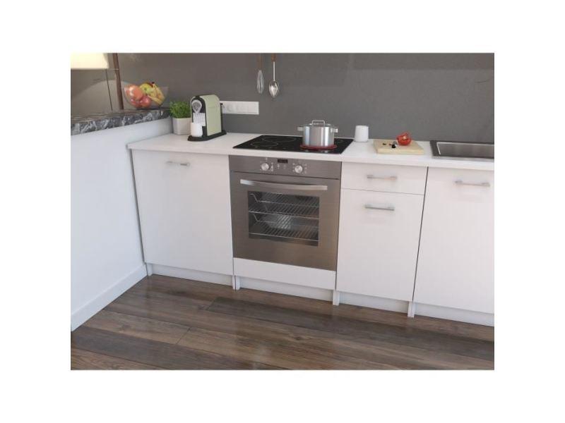 Elements separes bas extra meuble bas four - l 60cm - blanc mat